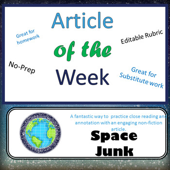 Article of the Week- Space Junk