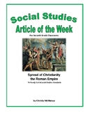 Article of the Week Spread of Christianity