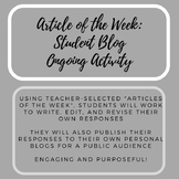 Article of the Week: Student Blog Ongoing Activity