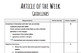 Article of the Week Student Checklist and Guidelines