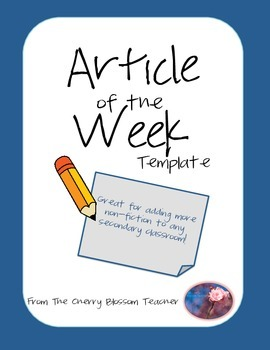 Article of the Week Template