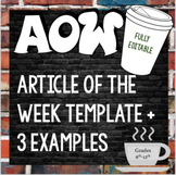 Article of the Week Template, Text Dependent Analysis examples