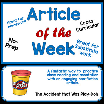 Article of the Week- The Amazing Accident that was Play-Doh!