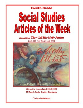 Article of the Week They Call Her Molly Pitcher