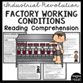 Industrial Revolution Factory Working Conditions Reading Comprehension Worksheet