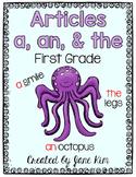 Articles A, An, The-First Grade