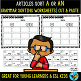 Articles A or An Sorts | Cut and Paste Worksheets