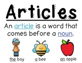Articles Anchor Chart (the, a, an)