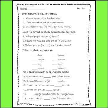 Articles Assessment