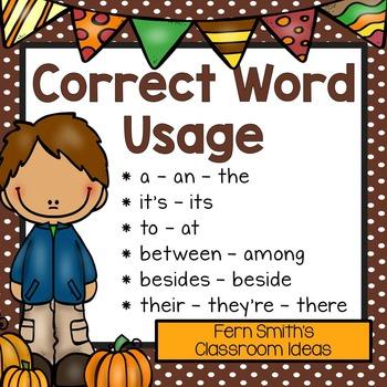 Correct Word Usage
