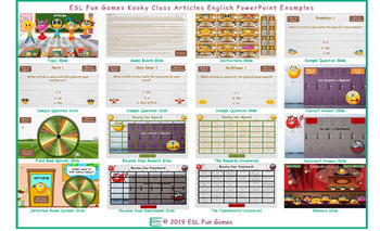 Articles Kooky Class English PowerPoint Game