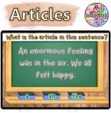 Articles Language Arts | BOOM Cards