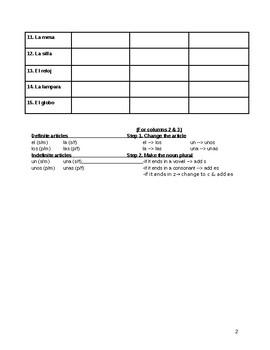 Articles & Plurals Practice