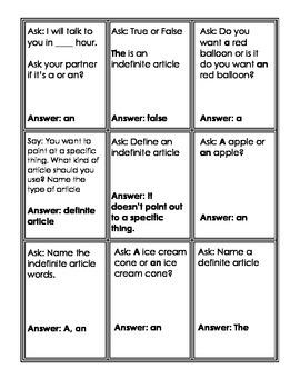 Articles Quiz!