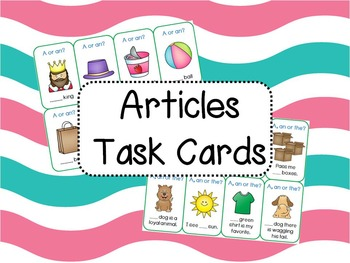 Articles Task Cards