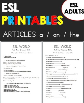 Articles a / an / the