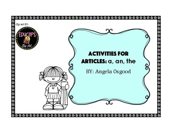 Articles (a, an, the) Activites