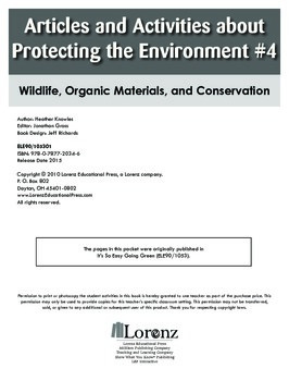 Articles and Activities about Protecting the Environment #4