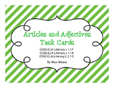 Articles and Adjectives Task Cards