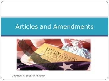 Articles and Amendments Power point