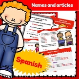 Articles and names in Spanish
