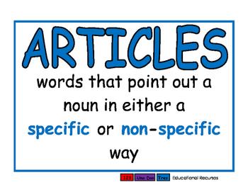 Articles blue