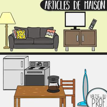 Articles de maison -cliparts / house items