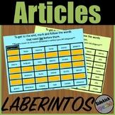 Articles (el, la, los, las) Mazes in Spanish