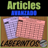 Articles (el, la, los, las) Mazes in Spanish (Advanced)