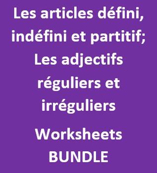 Articles et Adjectifs worksheets Bundle