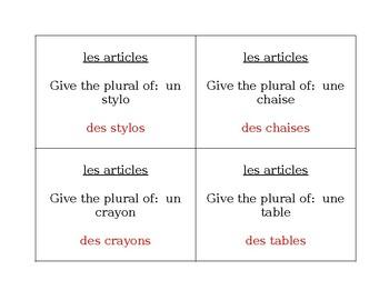 Articles et Fournitures scolaires French Question Question Pass activity