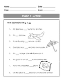 Articles for 1st Graders