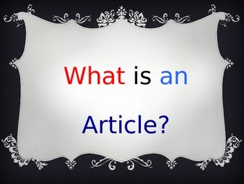 Third and Fourth Grade Articles
