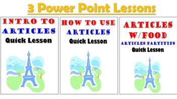Articles in French Unit Pack: PPT Lessons, Student Notes, Worksheets