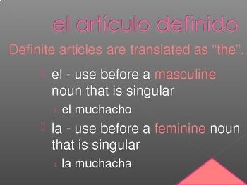 Artículos (Articles in Spanish) PowerPoint