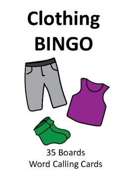 Articles of Clothing BINGO!