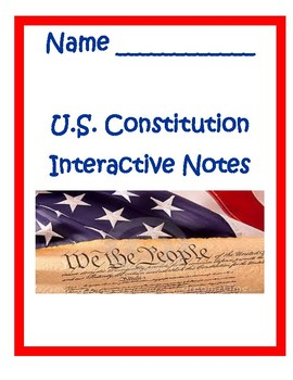 Articles of Conf. and Constitution Assessment PowerPoint with Notes