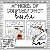 Articles of Confederation Activity BUNDLE | for Civics & A