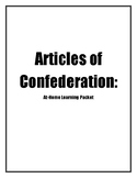 Articles of Confederation: At Home Learning Packet