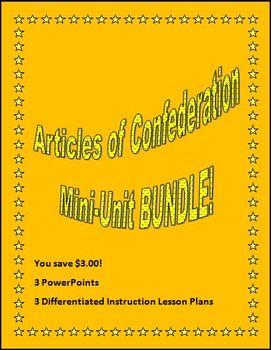 Articles of Confederation Mini-Unit BUNDLE!
