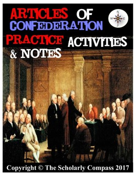Articles of Confederation Practices Activities & Notes!