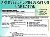 Articles of Confederation - Classroom Simulation Activity