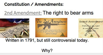 Articles of Confederation / Constitution / Bill of Rights