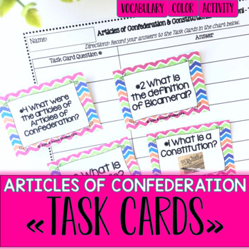 Articles of Confederation Task Cards