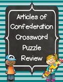 Articles of Confederation Crossword Puzzle