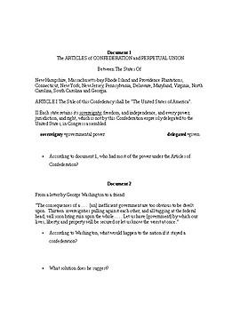 Articles of Confederation (DBQ)