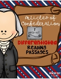 Articles of Confederation Differentiated Reading Passages & Questions