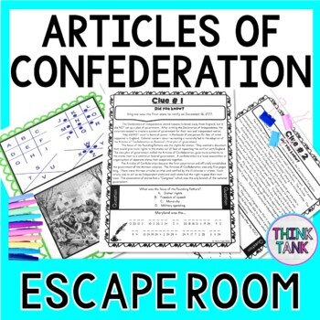 Articles of Confederation ESCAPE ROOM: First Constitution, Shays Rebellion