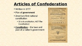 Articles of Confederation Government