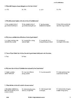 Articles of Confederation - Grade 6